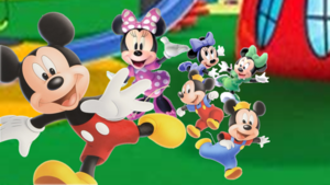 ! ! ! Disney's Mickey, Minnie, Morty, Ferdie, Millie and Melody topo, mouse