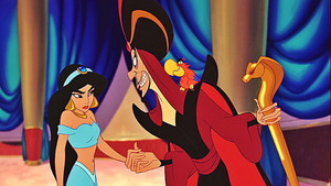 Walt डिज़्नी Screencaps - Princess Jasmine, Jafar & Iago
