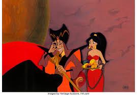 Walt Disney Production Cels - Jafar & Princess Jasmine