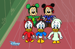 ! Morty Ferdie Huey, Dewey, Louie Modern (Mickey topo, mouse Halloween Ultimate Scary Story)