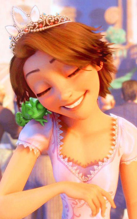 Walt Disney Screencaps - Pascal & Princess Rapunzel