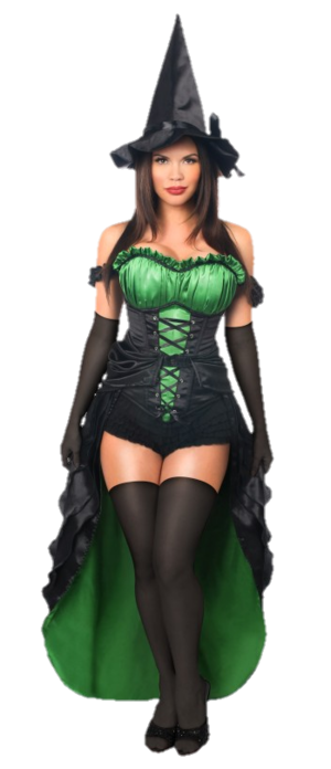 An Seductively Beautiful Sexy Witch