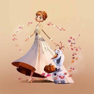 Anna and Olaf in 겨울왕국 2