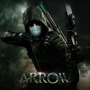 ऐरो (Oliver Queen) Go Pro-Mask social distancing fashion