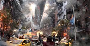 Avengers: Infinity War concept art door Pete Thompson