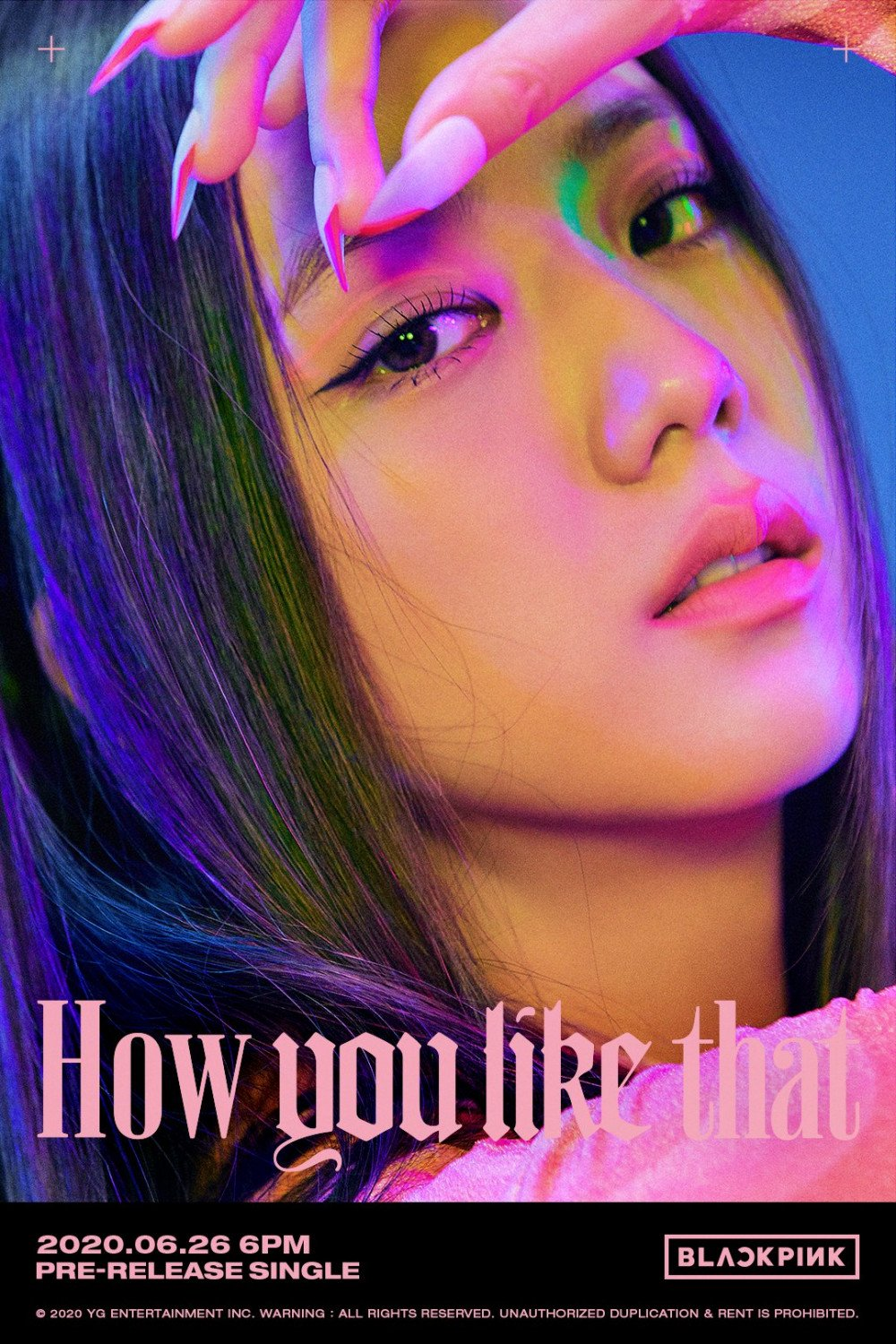 BLACKPINK drop 3rd set of neon title posters for 'How You Like That'