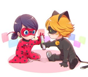 Baby Ladybug and Chat Noir