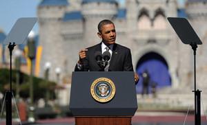 Barack Obama Disney World 2012