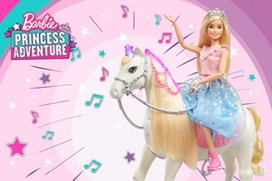 búp bê barbie Princess Adventure - Prance & Shimmer Horse