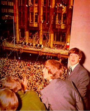 Beatles and their fans!