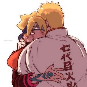 Boruto Hugs Naruto