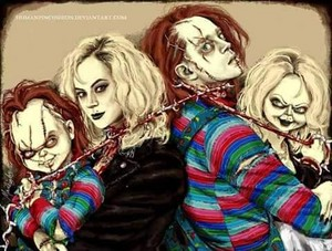 Chucky and tiffany پرستار art