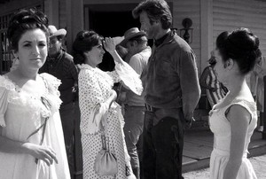 Clint as Jed Cooper in Hang 'Em High behind the scenes