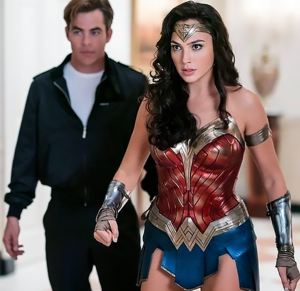 Diana and Steve in Wonder Woman 1984 (movie still)