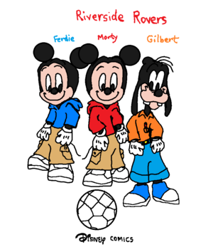 डिज़्नी Comics Morty Fieldmouse and Ferdie Fieldmouse and Gilbert Goof (Riverside Rovers)