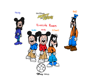 Disney Comics Morty Fieldmouse and Ferdie Fieldmouse and Gilbert Goof (Riverside Rovers)..