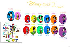 डिज़्नी Golf 2 (Fanart)