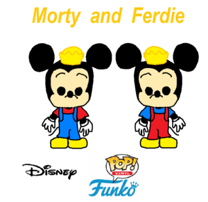 Disney's Morty and Ferdie Funko Pop Vinyl (First time)