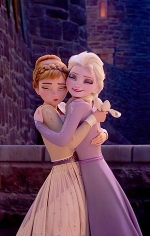 Elsa and Anna~Hugs