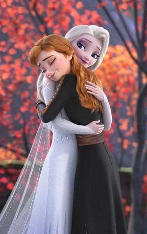 Elsa and Anna ~Hugs!