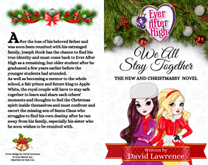Ever After High: We All Stay Together (Christmas Novel Cover)