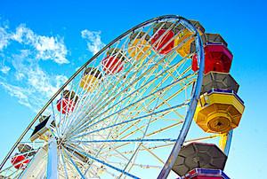 Ferris Wheel in Blue Sky