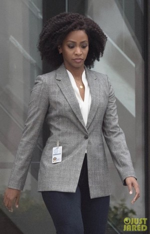 First look at Teyonah Parris as Monica Rambeau on the set of WandaVision