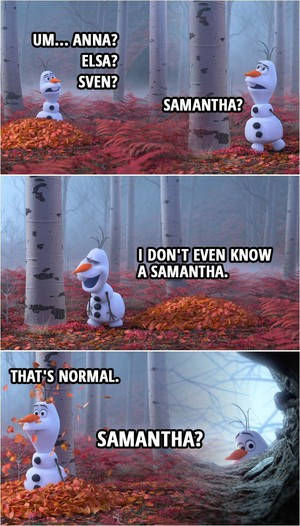Funny Olaf in La Reine des Neiges 2
