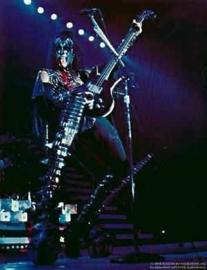 Gene ~Daly City, California...August 16, 1977 (Love Gun Tour)