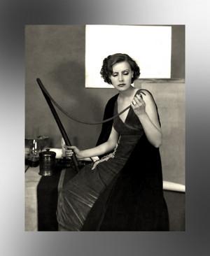 Greta Garbo ~ Thinking of Cracking the Whip