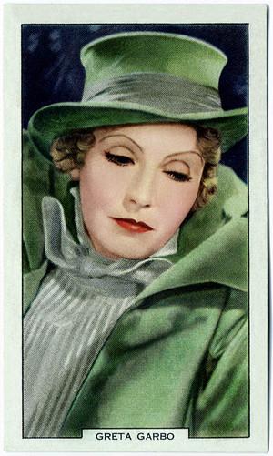 Greta Garbo ~ Vintage Cigarette Card