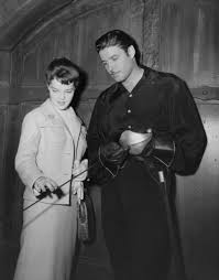 Guy Williams And His Daughter On The Set Of Zorro