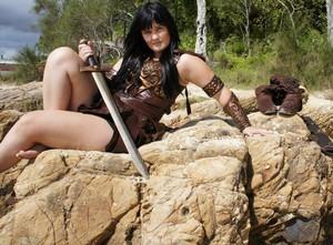 Hot And Sexy Barefoot Xena Warrior Princess Costume Cosplay por thewarriorprincess - December 2011