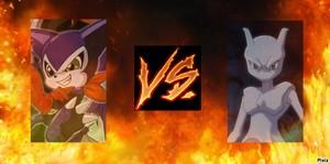 Impmon vs. Mewtwo