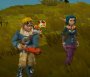 Jak and Daxter and Keira lost Frontier.