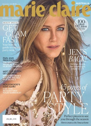 Jennifer Aniston for Marie Claire Australia [December 2019]