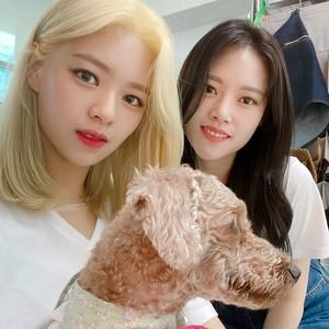 Jeongyeon and Seoyeon