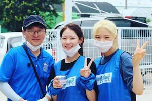 Jeongyeon at the animal shelter