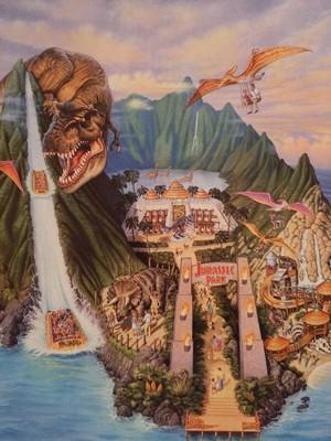 Jurassic Park Islands of Adventure Cup Illustration