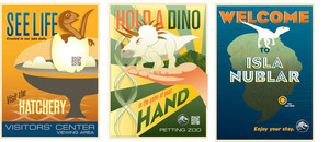Jurassic World Postcards