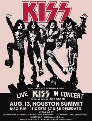 KISS ~Houston, Texas...August 13, 1976 (Spirit of 76/Destroyer Tour)