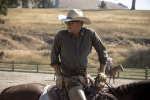 Kevin Costner as John Dutton in Yellowstone: A Thundering