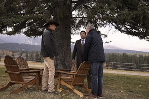 Kevin Costner as John Dutton in Yellowstone: Behind Us Only Grey
