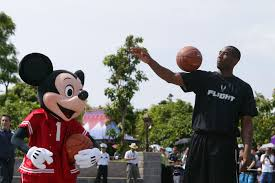 Kobe Bryant One On One With Mickey Mouse