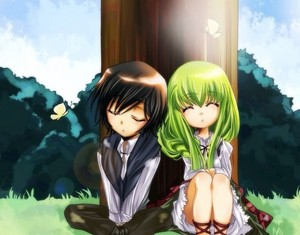 Lelouch and C. C. as kids