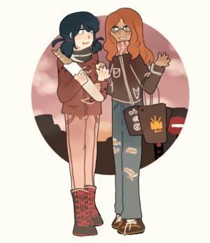 Marinette and Alya