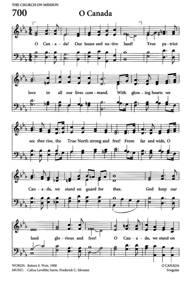 O Canada (Lyrics + Sheet Music)
