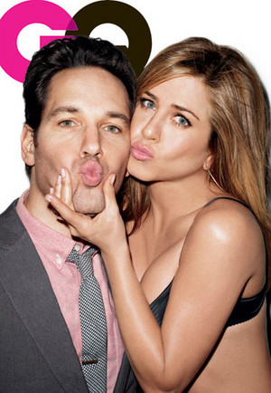 Paul Rudd and Jennifer Aniston for GQ (March 2012)