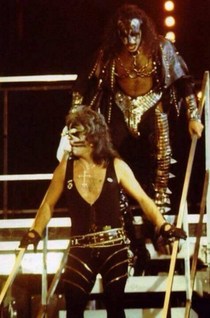 Peter and Gene ~San Diego, California...August 19, 1977 (Love Gun Tour - ALIVE II Photo Shoot)