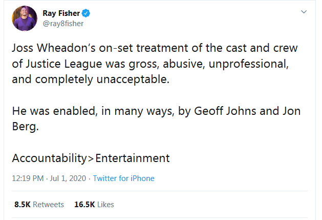 Ray Fisher on Joss Whedon